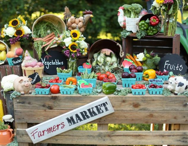 Farmers-Market-Birthday-Party-display